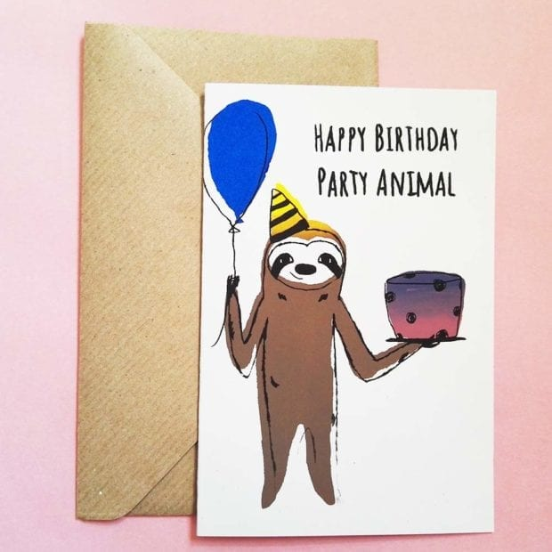 happy-birthday-party-animal-geburtstagskarte-lovelysloth_2
